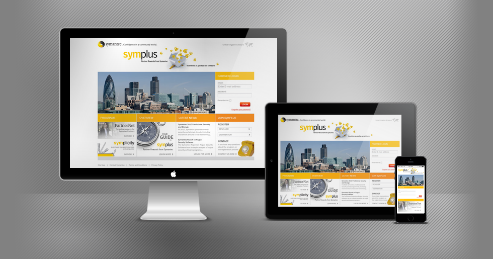 Symantec Symplus Website Design and Build